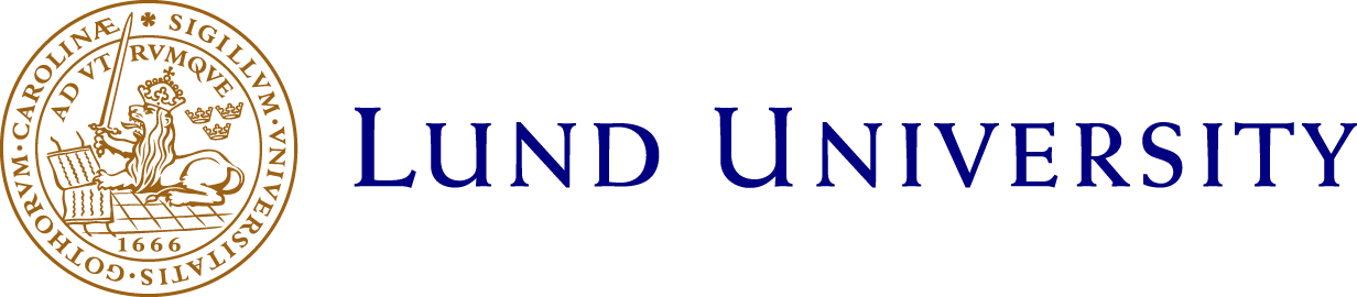Lund University logotype, link to Lund University